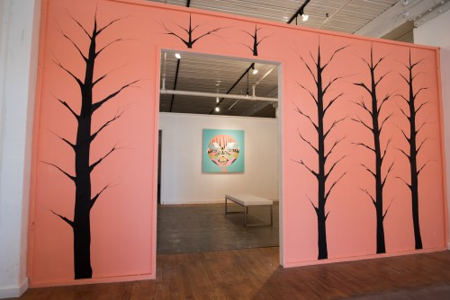 "Uriel Correa. Installation view, ""Story of the Sacred Watchers,"" 2015"