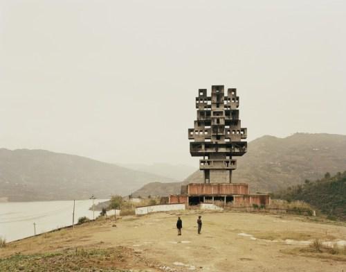 "Nadav Kander. ""Fengine III (Monument to Progress and Prosperity), Chongqing Municipality,"" 2007."