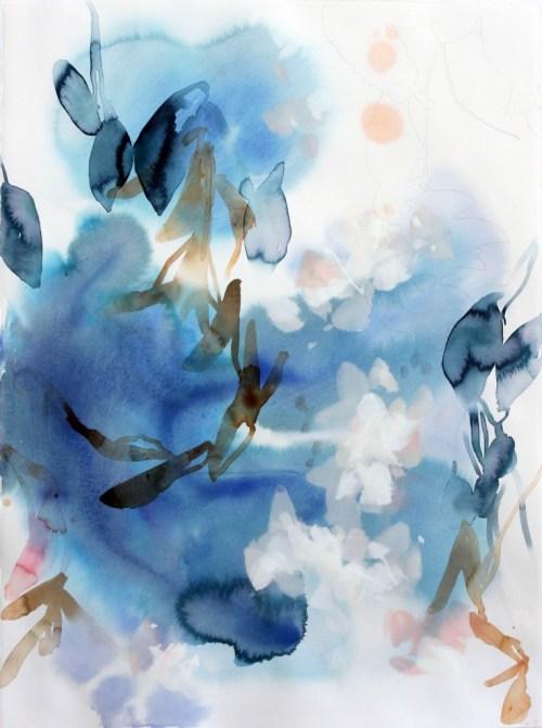 "Elise Morris. ""Winding Ways."" Mixed media on panel. 22 x 30 inches."