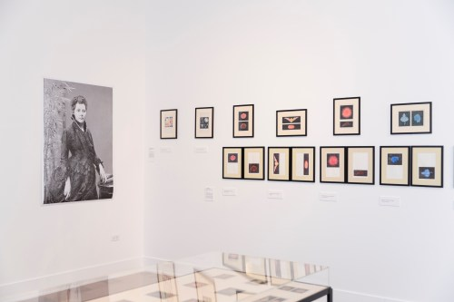 """Installation view of """"Intention to Know: The Thought Forms of Annie Besant"""" at the Rebuild Foundation's Stony Island Arts Bank."""" /Photo: Habib Bolat."""