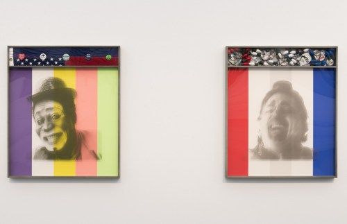 """Installation view of """"Kathryn Andrews: Run for President"""" at the MCA Chicago. /Photo: Nathan Keay."""