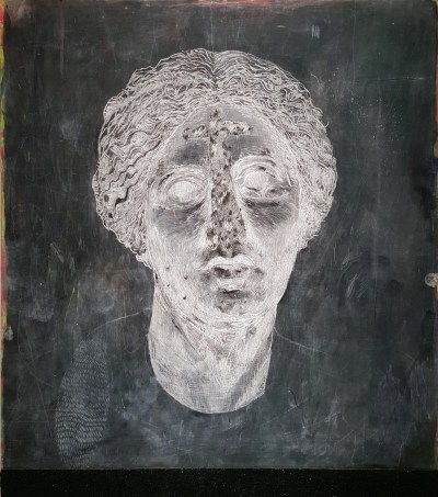 "Erin Washington. ""Ruin and cosmic dust,"" 2015. 35 x 30 inches."