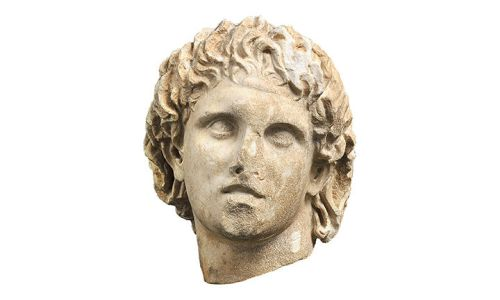 Bust of Alexander the Great. /Photo: Archaeological Museum of Pella.