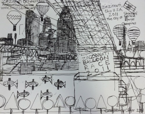 "Courttney Cooper. Detail from """"Zinzinnati Ohio USA"" at Intuit, 2016."