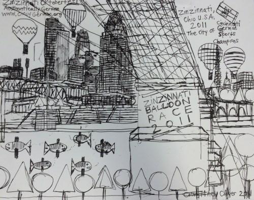"Courttney Cooper. Detail from """"Zinzinnati Ohio USA"" at Intuit, 2016."