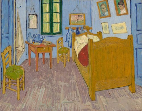 """Vincent van Gogh. """"The Bedroom,"""" 1889. Musée d'Orsay, Paris, sold to national museums under the Treaty of Peace with Japan, 1959."""