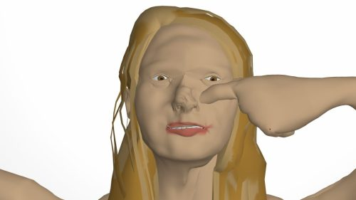 "Lilli Carré. ""Jill,"" 2016. Still from looping CG animation , 7 minutes"