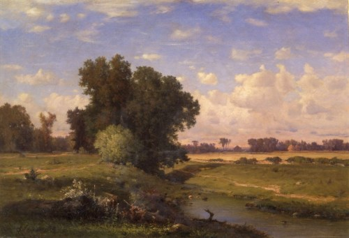 "George Inness (1825-1894). ""Hackensack Meadows, Sunset,"" 1859. Oil on canvas. The New-York Historical Society."