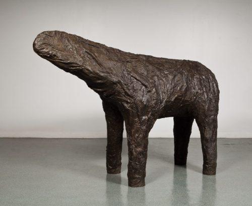 "Magdalena Abakanowicz, ""Mutant,"" 2000. Bronze"
