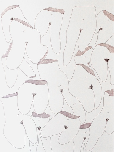 "Hope Esser, ""Crotches,"" 2015. Pen on paper, 25 x 19 inches"