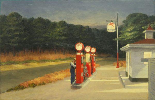 "Edward Hopper. ""Gas,"" 1940. The Museum of Modern Art, New York, Mrs. Simon Guggenheim Fund, 1943. © The Museum of Modern Art/Licensed by SCALA / Art Resource, NY."