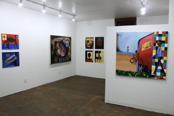 """Alex Bradley Cohen, Installation view of """"Half Truth"""" at Slow Gallery, Fall 2016"""