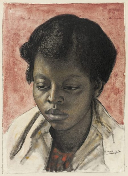 """Dame Laura Johnson Knight, """"Study of a Young Woman,"""" 1926."""