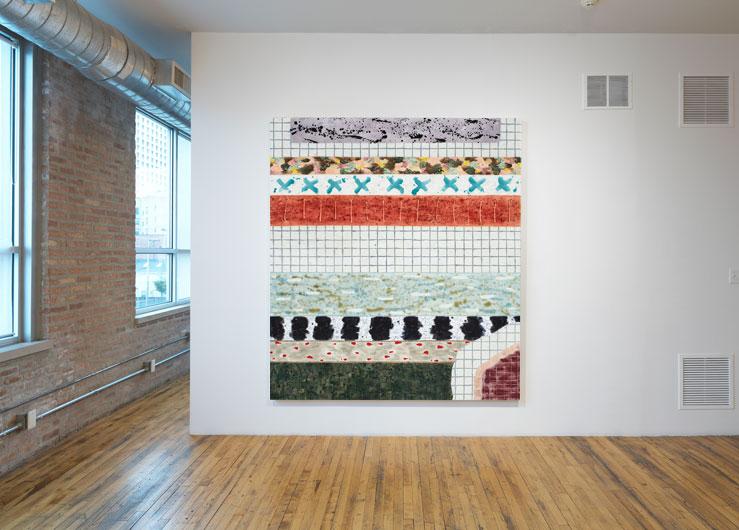 Installation view of Rebecca Morris at Corbett vs. Dempsey, Fall 2016
