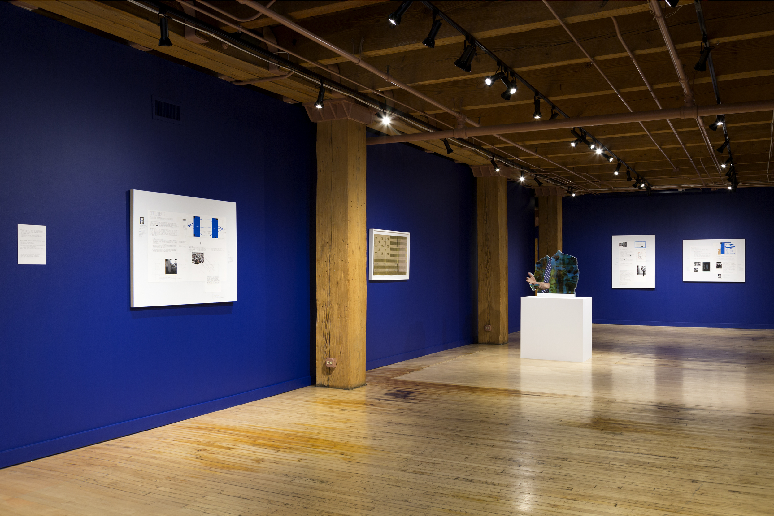 "Installation view of ""Sapphire"" at Weinberg/Newtown Gallery, Fall 2016"