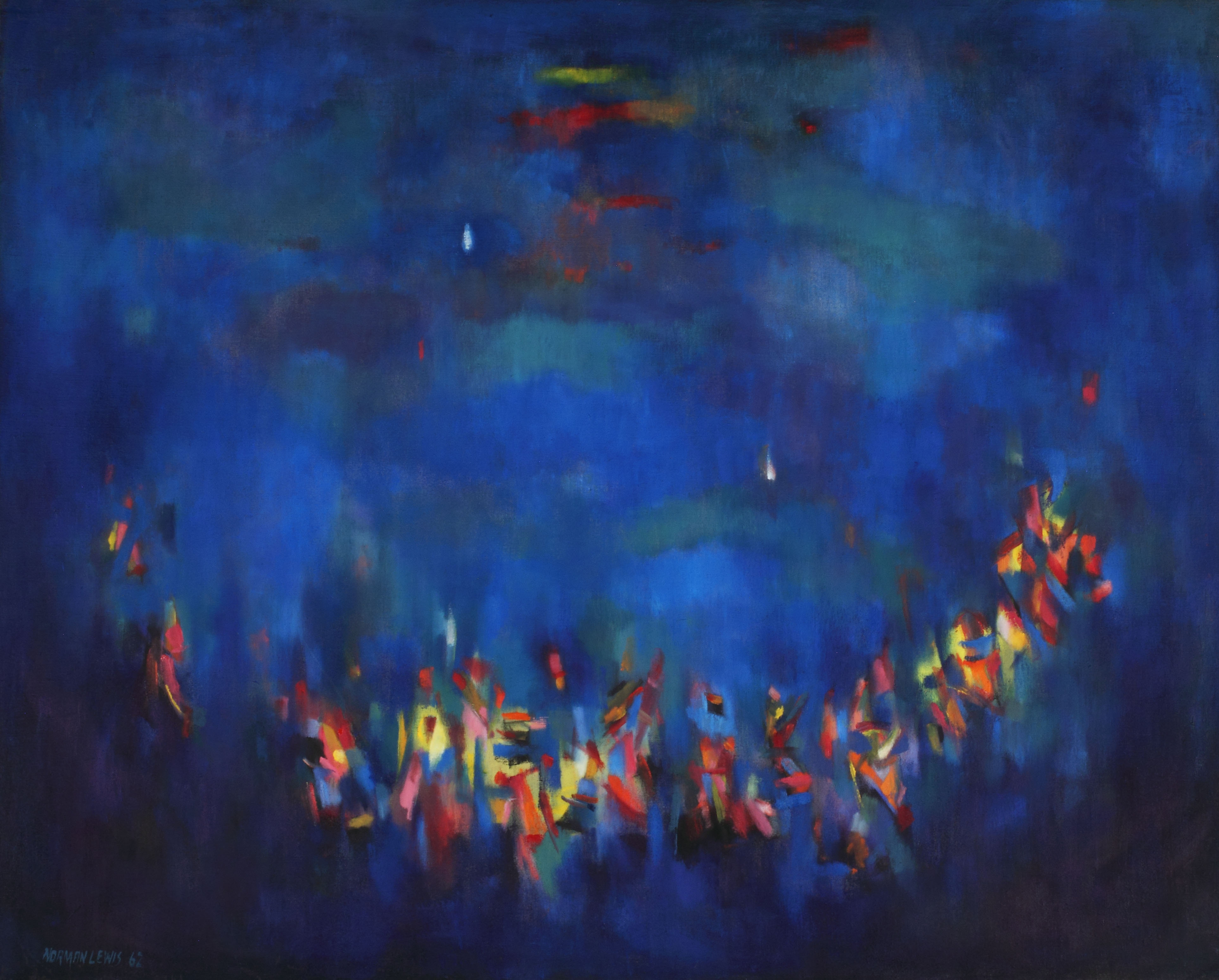 "Norman Lewis, ""Ritual,"" 1962. Oil on canvas, 51 x 63 3/4 inches"