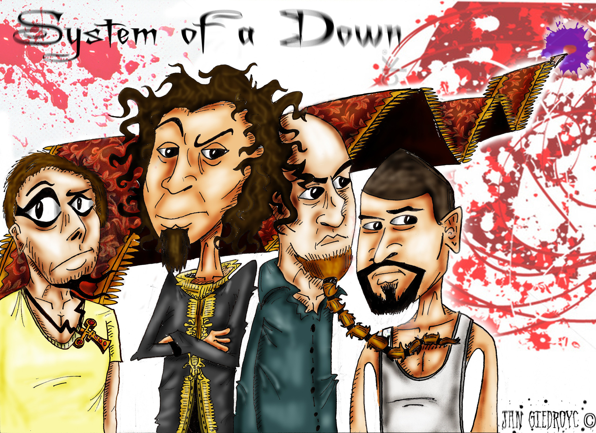 Resultado de imagem para system of down caricatura