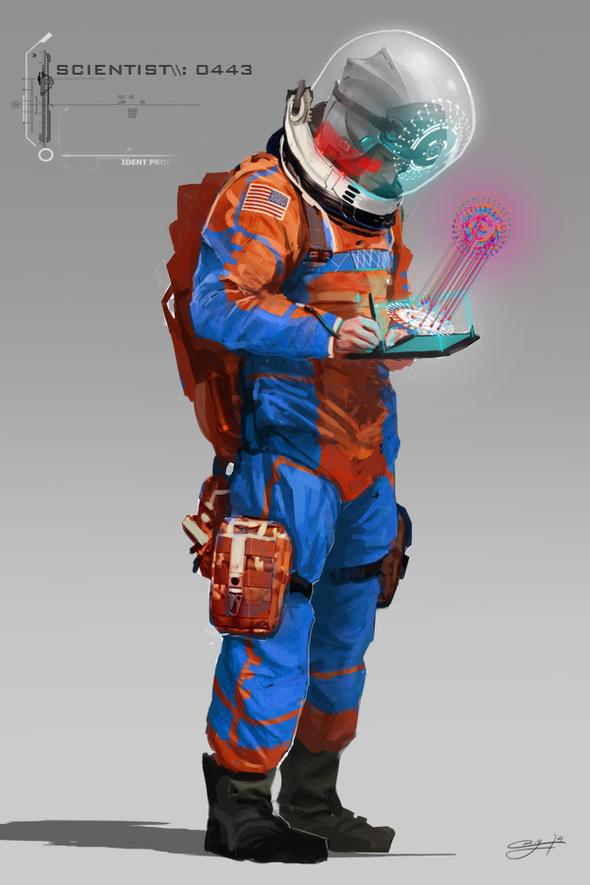 Futuristic Scientist By YakovlevArt On Newgrounds