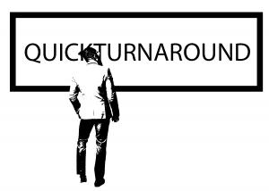 QUICKTURNAROUND flier designed by Erin Mosley