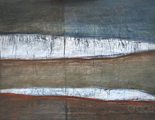 "detail of Warren Croce's painting ""Snow"""
