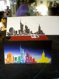 Acryl auf Karton, 2010