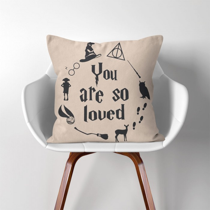 Download Harry Potter Hogwarts you are so loved Linen Cotton throw ...