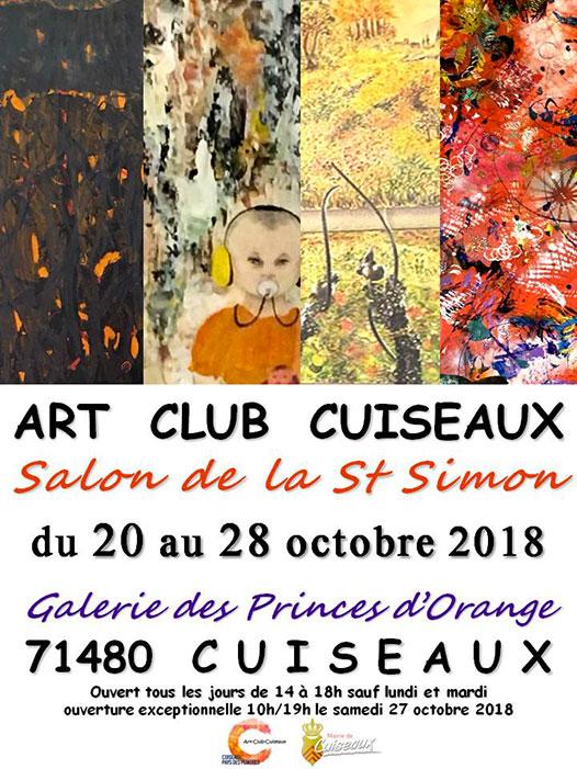 Art Club Cuiseaux eposition du 20 au 28 octobre 2018