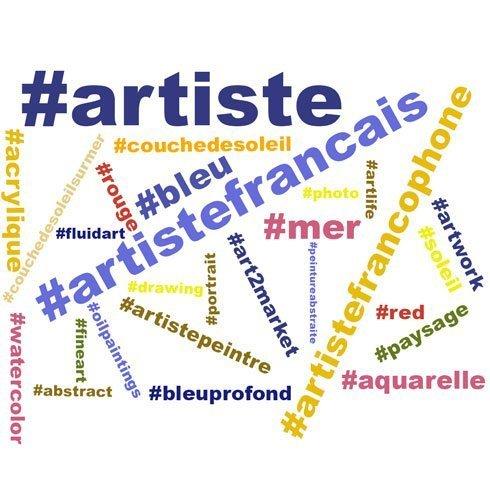 les hashtags pour artistes