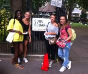 Meeting a designer from Italy in Soho Square