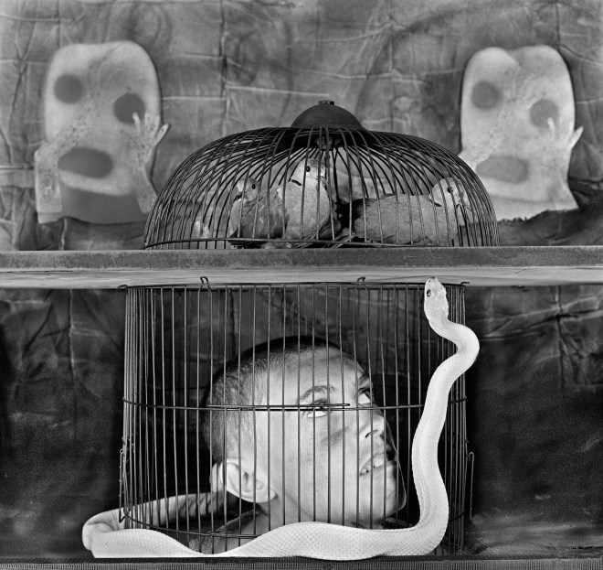 Caged, 2011, Image courtesy of Roger Ballen and Wei-Ling Gallery, Kuala Lumpur