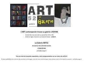 la galerie contemporaine ART52 sur ROYAN