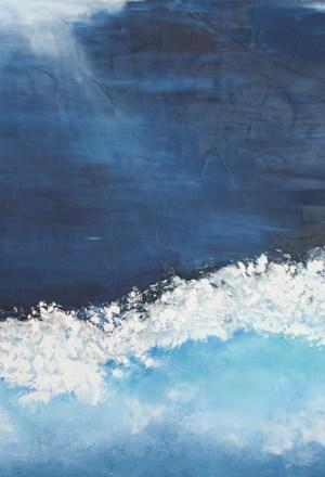 Clair de lune de l'artiste peintre valérie Nouailhetas galerie art 52 royan