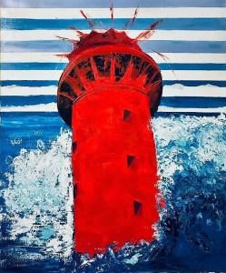le phare de l'artiste Peintre Valérie Guillemont à l'Espace ART 52 de Royan Galerie atelier
