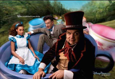 Beyonce as Alice in Wonderland