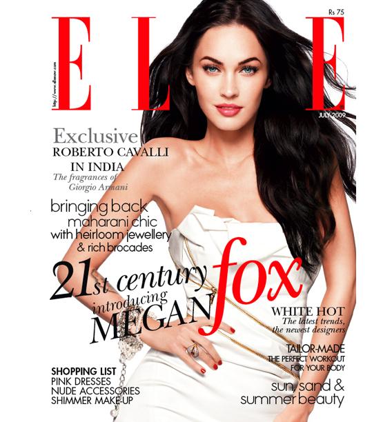 Megan Fox for Elle India July 2009