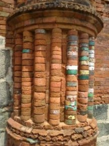 Deterioration in a column of the temple