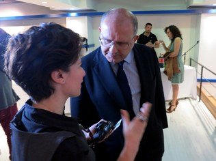 Introducing artAmari Residency to the Greek Minister of Culture