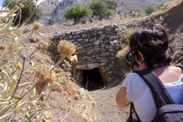 Photographing some of the many Minoan ruins in the area