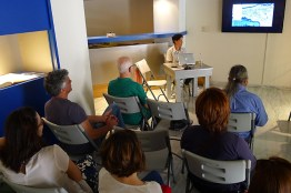 Artist talk at the Museum of Contemporary Art of Crete.