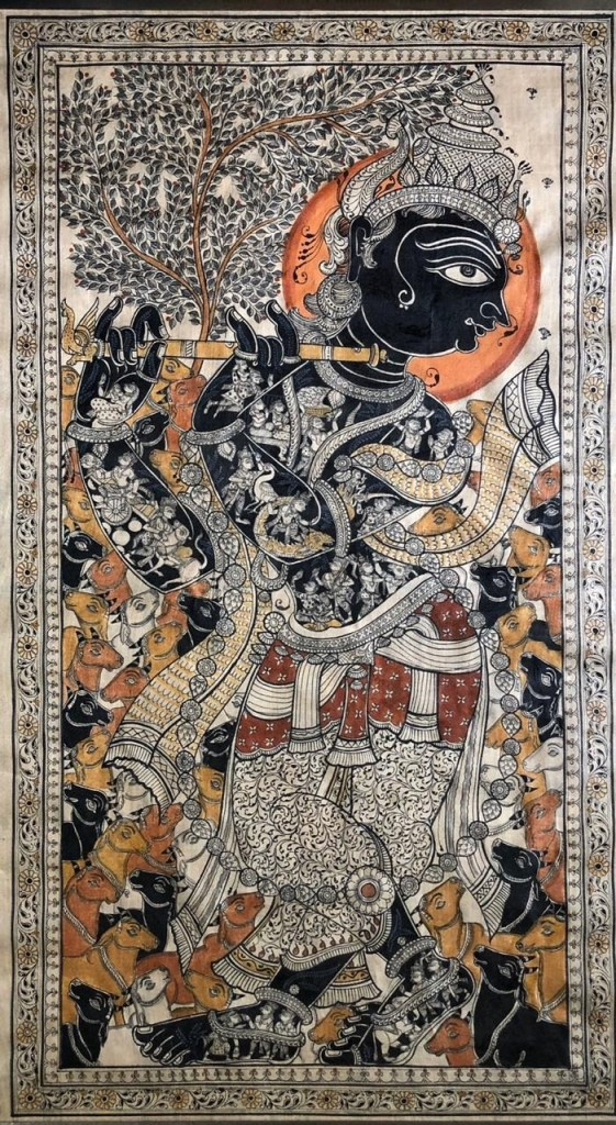 Patachitra is a traditional painting of Orissa. This old tradition still survives in the places like Puri, Raghurajpur