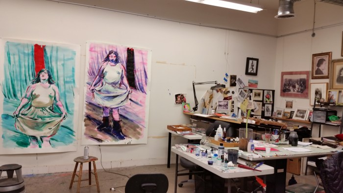 Lena Moross will be showing for the first time at the Brewery Artwalk.