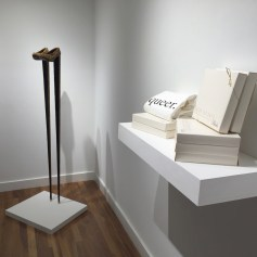 """Installation view of 'Instilled Life"""" at the Sweeney Art Gallery. Works by Rachel Lachowicz and Nayland Blake. Photographs courtesy of UCR ARTSblock"""
