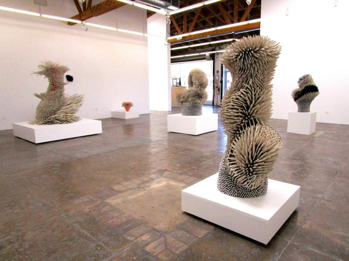Work by Zemer Peled at Mark Moore Gallery - Photo Credit: Patrick Quinn