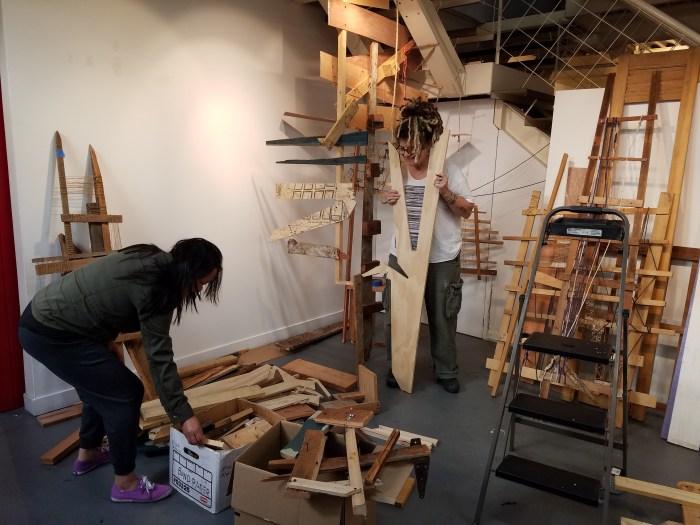 Shoebox Projects. Susan Feldman and Jennifer Gunlock. Day 2. Photo Credit Kristine Schomaker