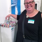 Kristine Schomaker. Final MAS Attack at the Torrance Art Museum. Photo Credit Diane Williams