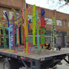 """""""Pulling The Forest Along The Road"""" Grand Central Art Center Santa Ana Photo Credit Lisa Lo Russo"""