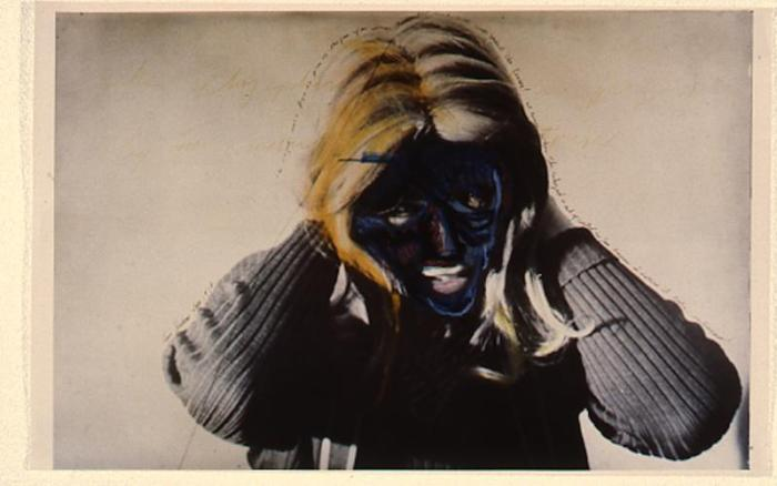Masculine  Feminine. Photo Courtesy of The Beall Center for Art + Technology. Lynn Hershman Leeson. Roberta Turning Blue. 1979.