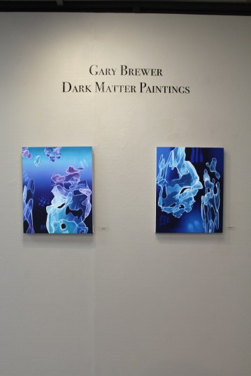 Gary Brewer: Dark Matter Paintings. Moorpark College Art Gallery. Photo by Erika Lizee.