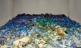 MOLAA (Museum of Latin American Art). Relational Undercurrents: Contemporary Art of the Caribbean Archipelago. Tony Capellan, Mar Invadido / Invaded Sea, Found objects from the Caribbean Sea, 2015. Installation view: Poetics of Relation, Perez Art Museum Miami, 2015. Collection of the Artist. Photo Courtesy of Oriol Tarridas Photography.