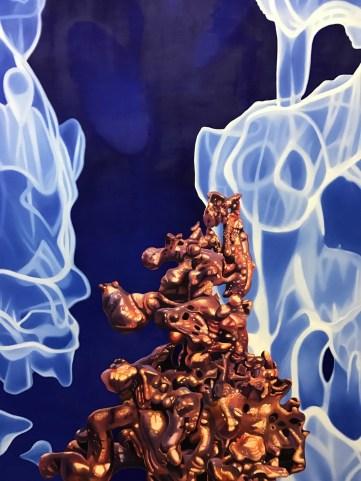 Gary Brewer: Dark Matter Paintings. Moorpark College Art Gallery. Photo by Genie Davis.